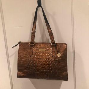Stunning Brahmin shoulder bag, NWOT, bronze